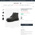 Rivers Goodyear Welt Leather Boots $47.99/ $49.95 Selected Colour + Delivery ($0 with $120 Spend) @ Noni B