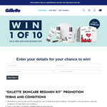 Win 1 of 10 His and Hers Skincare Regimen Kits Worth $248.47 from Gillette