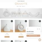 20% off Ceramic Vases + $7 Delivery @ Ornayte