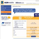 Aldi Mobile Plan - Telstra 3G ($35 = 5GB + Unlimited AU Calls/TXT etc + $10 International Call)
