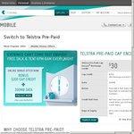 Telstra $30 Starter Kit Pre-Paid Online Offer - One-Off Bonus 200MB Data and $200 Cap Credit