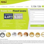 2 Year Fixed Rate Home Loan 4.69%Pa (5.35%Pa Comparison Rate) + Free Suburb Report @ Resi