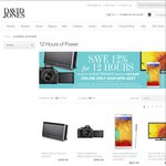 Save 12% for 12 Hours on Selected Electronics at David Jones (Online Only). Today Only