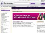 Book Depository 10% off All Titles until September 10th