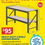$95 Heavy Duty 500kg Garage Shelving @ Masters Home Improvement Instore Only