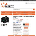 Olympus OM-D E-M1 Black w. 12-40mm F/2.8 PRO Lens $1276 after Cashback (Plus Powerpack?) @ digiDIRECT