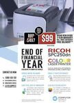 Ricoh SPC250DN Colour Laser Printer Delivered (Metro Melb, Syd, Adel) $99 @ CWORLD