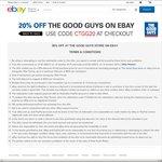 20% off The Good Guys on eBay