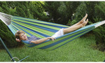 Double Brazilian Hammock Sling - Blue/Green  $9.58 Delivered @ OO.com