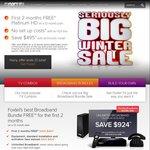 Foxtel - First 2 Months Free Platinum HD on a 12 Month Plan (+Optional Unlimited Broadband Bundle)