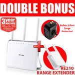 TP-Link Archer D9 AC1900 Modem Router + RE210 Range Extender + Belkin Surge Protector $183.20 Delivered @ Wireless1_eshop