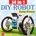 14 in 1 DIY Solar Powered Robot $9.99 + $3.95 Shipping @ Shopping Square