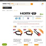 20% off on All HDMI Cables - $6.36 Flat HDMI V2.0 Cable (1.5m) Shipped @Geardo Australia