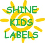 Kids Cartoon Personalised Stickers Labels from $2.99 for 36 Labels @Shine Kids Labels, Free Shipping Australia Wide