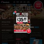 Domino's - 30% off Pizzas (Excludes Value and Extra Value Range)
