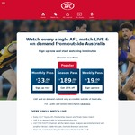 WatchAFL Global Pass 25% off Season Pass - Normally $189, Reduced to $141.75 with Coupon Code. Also Free Trial Sunday 14th May