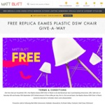 Free Replica Eames Plastic DSW Chair to 1st 100 @ Matt Blatt Furniture (Alexandria NSW)