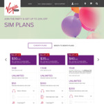 Virgin Mobile SIM Only Plan - $32/Month for 15GB Data (12 Months Contract)