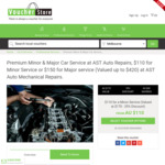 $110 for Minor Service or $150 for Major Service (Valued up to $420) at AST Auto Mechanical Repairs @ Victoria