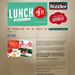 Free Adult Salad Bar Voucher (Worth $25.95) with Purchase of $50 or Higher Gift Card @ Sizzler