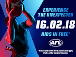 [VIC] $10 Tickets to AFL X Game on 16 February at Etihad (for 24 Hours) Kids Free