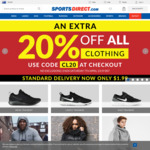 20% off on All Clothing @ Sports Direct
