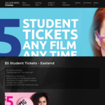 [SA] $5 Tickets to Any Movie for Students @ Palace Nova Eastend, Adelaide
