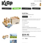 "KLOP - ""The Addictive Outdoor Game of Log Tossing Fun!"" $41.97 with Free Express Shipping (30% off)"
