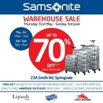 [VIC] Samsonite Warehouse - up to 70% off RRP, Free Gift with Value up to $60 for Purchases over $100, Suitcases from $35