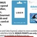 Receive 2000 Flybuys (Worth $10) with Purchase of $50 Uber, Ticketmaster, Movie Card or Gourmet Restaurant Gift Cards @ Coles