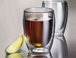 350ml Double Wall Glass Cups Set of 8 - $59.99 FREE SHIPPING, was $69.99