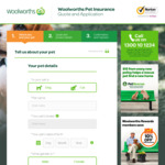 $50 Woolworths Gift Card with Every New Woolworths Pet Insurance Policy