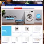 FL Washing Machine $379, Condenser Dryer $399, SteamIron/Station $19.99/129, LCD SteamIron $39.99, Garment Steamer $89.99 @ ALDI