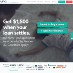 Get $1,500 When Your Home Loan Settles if You Apply before September 30 - Uno Home Loans