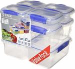 Sistema Klip It 1815 10 Pack Food Storage Container $12.49 (Free Delivery with Prime/ $49 Spend) @ Amazon AU