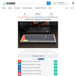 Win a DSA Groove Keycap Set Giveaway Worth $99.99 USD from Kono Store
