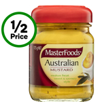 ½ Price Masterfoods Mustard 175g Varieties $1.50 @ Woolworths