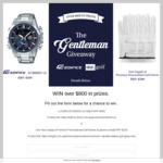 Win an Edifice Watch and Golf Gloves Worth $808 from Mr Golf