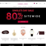 80% off Sitewide ($9.90 Postage or Free for Purchases over $100) @ Emma & Roe Online
