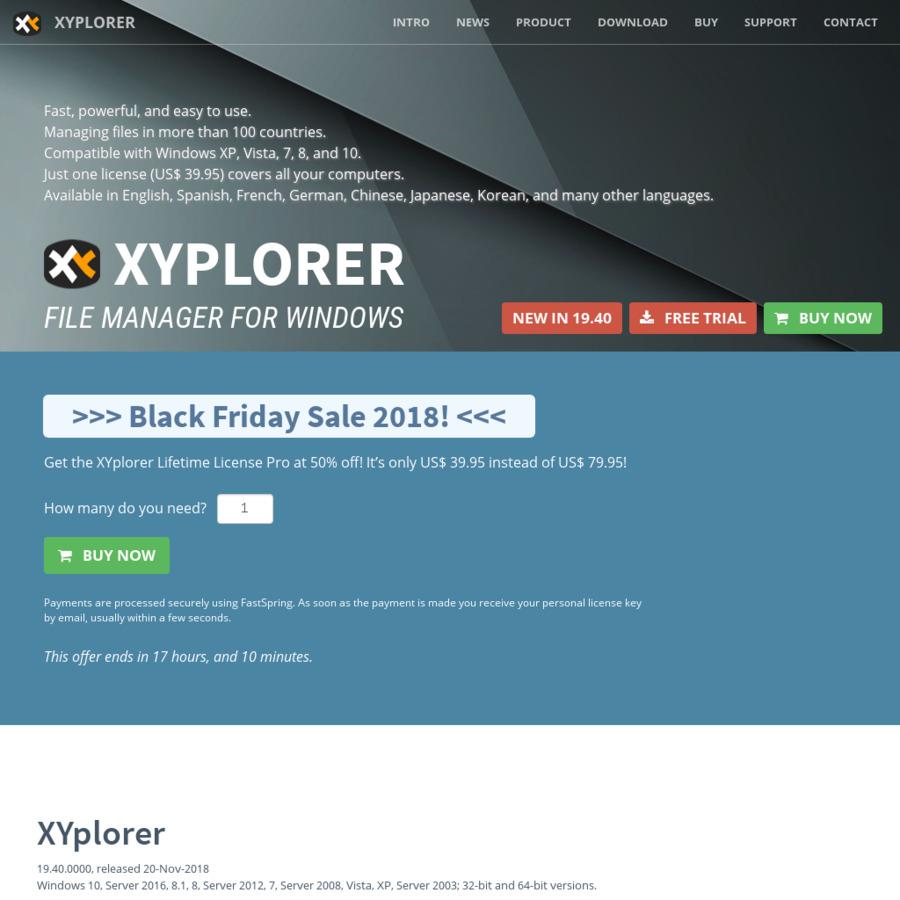 XYplorer Black Friday / Cyber Monday Sale - Lifetime License Pro US