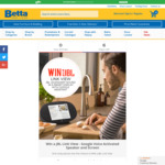 Win a JBL Link View Google Voice-Activated Speaker & Screen Worth $229 from Betta