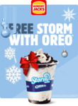 Free Storm with Oreo via App @ Hungry Jack's