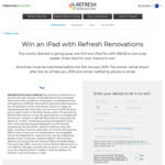 Win an iPad Pro Worth $1,199 from Refresh Renovations