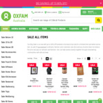 Up to 80% off + Free Shipping over $200 - Food & Drink, Accessories, Home Decor, Toys @ Oxfam Shop Online