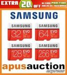 Samsung EVO Plus 256GB Micro SD Card $69.90 Delivered @ Apus Auctions eBay