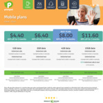 Pennytel Mobile SIM Only Plans: 1GB for $4.40, 2GB for $6.40, 4GB for $8, 10GB for $11.60/Month for 3 Months (No Contract)