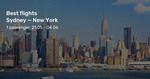 Sydney to New York City from $938 Return on United / Delta / Virgin Australia (May to June) @ BeatThatFlight