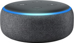 Amazon Dot Echo 3 (Charcoal & Heather Grey) $45 C&C (Or + Delivery) @ Myer