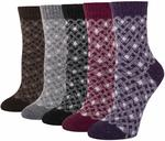 5 Pack Women's Wool Blend Winter Socks $11.07 + Delivery (Free with Prime) @ Amazon US via AU