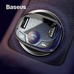 Baseus FM Transmitter Bluetooth MP3 Player Dual USB Car Charger AU $11.75 Delivered @ eSkybird